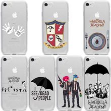 Nova tv As Fundas Coque Umbrella Academy moda мягкий прозрачный чехол для iphone 8 7 6 plus X Xs XR Xmax 5 shell(Китай)