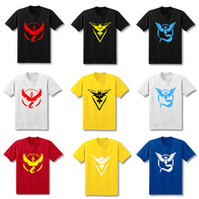 2017 New T Shirt Men pokemon go Pokemon Lightning Bird Short Sleeve T-Shirt Cotton Fashion tops tees Loose T-Shirts - leckie LECKIE Store store