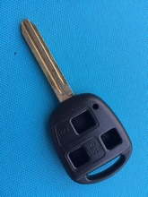 ZABEUDEIR 1pcs of New Replacement Key shell For Toyota 3 button remote keycase blank with uncut toy43 key blade keyless(China)