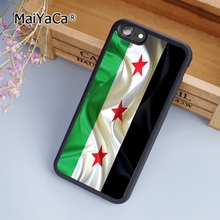 MaiYaCa Syria line flag Hard black fashion soft mobile cell Phone Case Cover For iPhone 5 5S SE Custom DIY cases luxury shell(China)