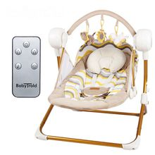 Electric wireless remote control baby cradle musical bouncer kid activity product vibrating rocking chair seat cradle swing bed