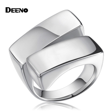 Super Domineering Fashion Titanium Men's Ring Opening Simple Spot Stainless Steel Unisex Rings