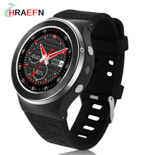 Hraefn S99 Bluetooth 4.0 Heart Rate relogio inteligente GSM 2G/3G GPS WiFi Quad Core Android 5.1 Smart Watch With 5.0 MP Camera
