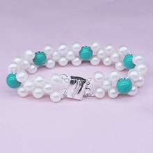 RUNZHUQIYUAN 2017 100% natural freshwater pearl Bracelet 7-8mm Many rows Genuine Cultured Pearl Bracelet wedding for women