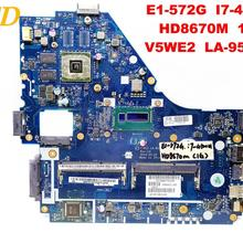 Original ACER E1-572G laptop motherboard E1-572G I7-4500U HD8670M 1GB V5WE2 LA-9531P tested good free shipping