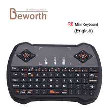 R6 Mini Keyboard 2.4Ghz Wireless Fly Air Mouse Remote Control with Gaming Touchpad for PC Pad Smart Andriod TV Box HTPC/IPTV