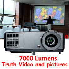 High Brightness Projector 7000 lumens HDMI DLP Data Show shutter 3D Home System Cinema Projector for Home Theater Presentation