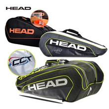 New Head Professional Tennis Rackets Hand Carry Bag Novak Djokovic Badminton Shoulder Bag For 9 PCS of Rackets In Large Capacity