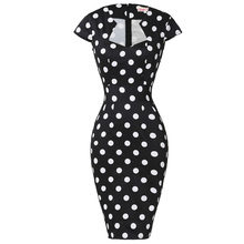 Women Plus Size Pencil Dresses Rockabilly Clothing 2018 Floral Summer Casual Party Office Dress Sexy 50s Vintage Bodycon Dress(China)