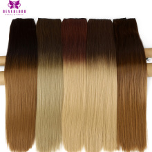 "Neverland Min 5pcs 24"" 5Clips Straight Heat Resiatant Ombre Synthetic Hairpiece One Piece Clip In Hair Extensions for Women Girl(China)"