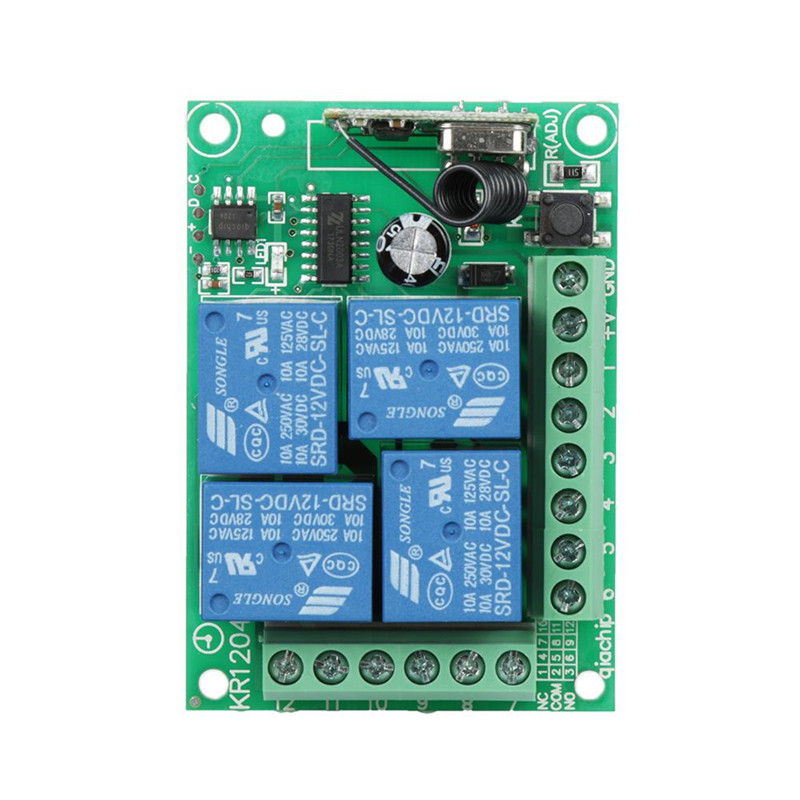 QIACHIP-433Mhz-DC-12V-4-CH-RF-Relay-Wireless-Remote-Control-Switch00