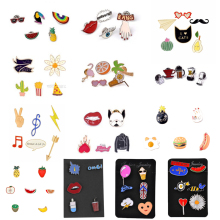 19 Style Enamel Pins Set Badge For Clothes Colorful Cartoon Brooches