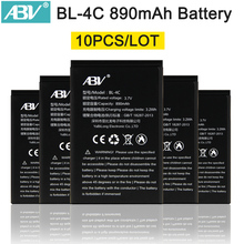 10pcs/Lot Wholesale Good Quality BL-4C Mobile Phone Battery Batteries for Nokia 1202/ 1265/ 1325/ 1506/ 1508/ 1661/ 1706/ 2220s/(China)