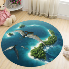 Rugs Computer-Chair Round-Carpets Space Floor-Mats Tapetes Anti-Slip New Kid Cat Sala