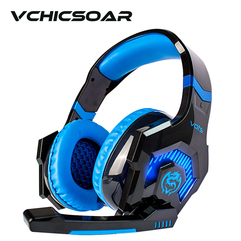 High Quality Pro Gaming Headsets Wired Headphones with Microphone Led Lights Noise Cancelling Earphones for Mobile Computer PC<br><br>Aliexpress