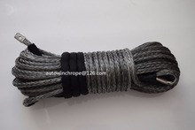 Grey 12mm*30m Synthetic Winch Rope,ATV Winch Cable,Plasma Rope,Tow Rope Car,Boat Winch Rope