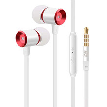 YPZ-K6 Hot Sale High Quality In-Ear 3.5mm Metal Earphones Super Bass headset With Mic For IPhone 5 5S 6 Plus Samsung MP3(China)