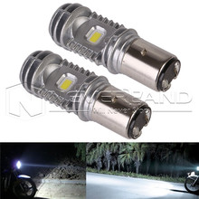 2pcs BA20D Hi/Lo 36W 6000K 9-85V High Quality Motorcycle ATV LED Headlight Bulbs DRL Fog Light(China)
