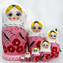 7pcs Matryoshka Doll Imported Genuine Handmade Features Beautiful Castle Doll Boutique Handicrafts(China)