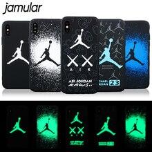 JAMULAR Sport Basketball Air Jordan Case iPhone 7 8 Plus 6 6s Cases Soft Matte Cover iPhone X XS MAX XR Coque Funda