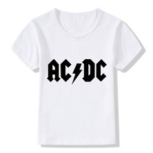 2017 AC/DC Print Rock Children T-Shirts Summer Top Boys/Girls Short Sleeve Clothes Casual Hip Hop Graphic Baby Kids Tees,HKP2219