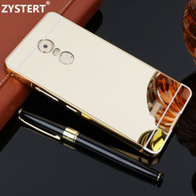 Funda For k6 note 5.5 Ultra-thin Plating Mirror Aluminium Alloy Metal Frame+PVC Case For Lenovo K6 note Protect Back Cover coque(China)