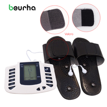 Beurha Acupuncture Electrical Massager Device With Electrode Pads Body Massge Pulse Machine Health Care Electrical Equipment