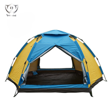 Outdoors 3-4 Person Super Big Tent for Sale 3 Second Automatic Easy Set-up Easy Fold Rain Proof Camping Hiking Tent ZH8-255(China)