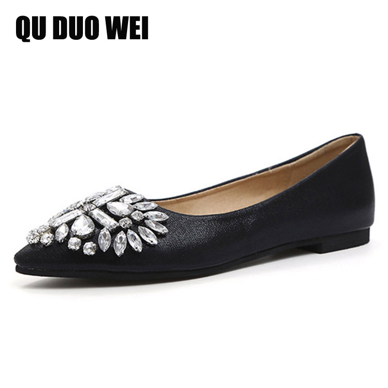 Golden Silver Shoes Woman 2017 New Slip On Ballet Flats Bling Crystal Rhinestone Loafers Casual Pointed Toe Women Flat Shoes<br><br>Aliexpress