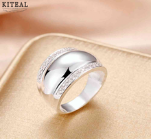 Thumb ring Silver plated Rings For Women Man Invisible Setting CZ AAAA Crystal Wedding Engagement Ring Jewelry R781