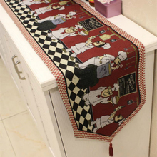 American country classic pattern Bearded chef table runner / long tablecloths / placemats cotton home textiles table accessories