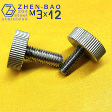 m3*12 , 20pcs/lot , DIN653 -B , Stainless steel Manufacture thumb screw computer case thumb screws , hand tighten bolt(China)