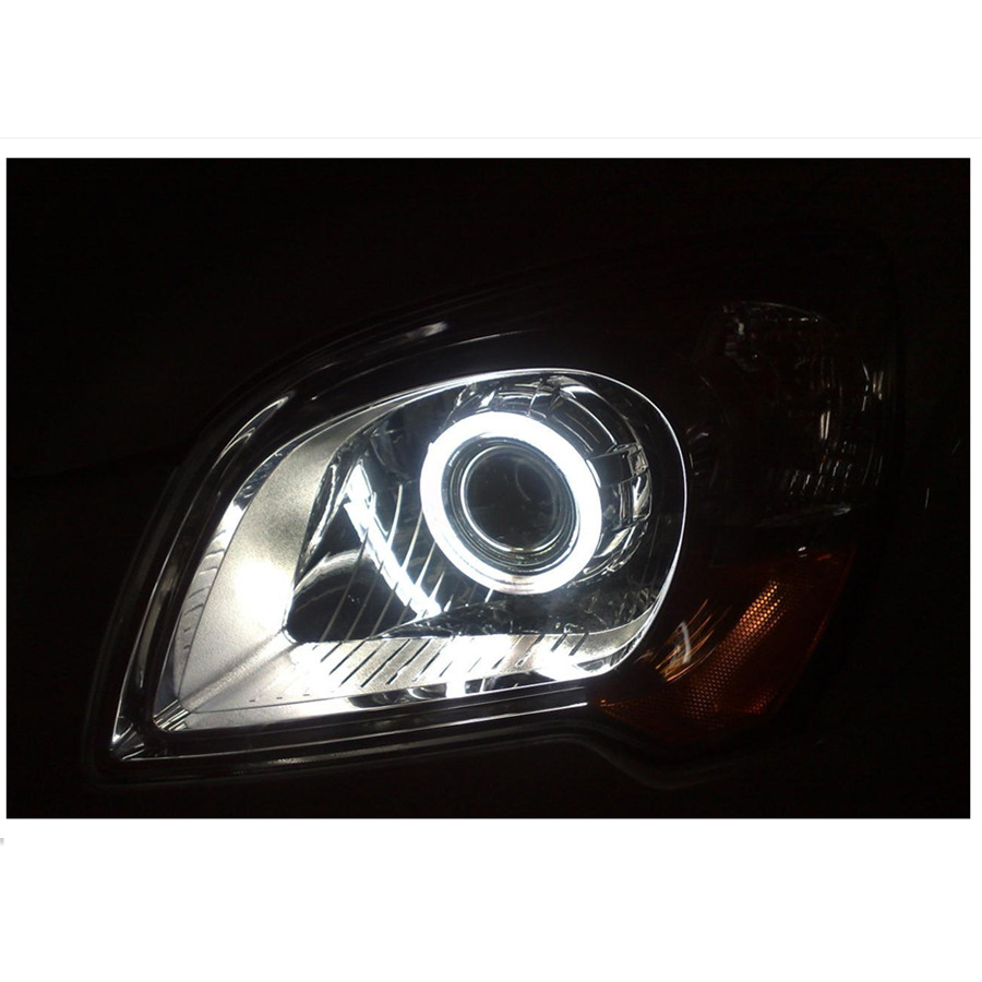 LED Angel Eyes COB 2PCS Auto Halo Ring 60MM 70MM 80MM 90MM 100MM 110MM 1MM Car Motorcycle With Lampshades 12V For BMW E60 E39 23