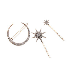 Summer Party Unique Stars Moon Barrettes 2016 New Arrival Korean Popular Hair Jewelry Women Accessories