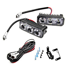 1set Waterproof Car High Power Aluminum DRL LED Daytime Running Light with Lens DC 12v Xenon White DRL(China)