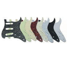 High quality 8 different colors 3 Ply Jimi Hendrix Strat Guitar Pickguard Reverse Bridge for Stratocaster