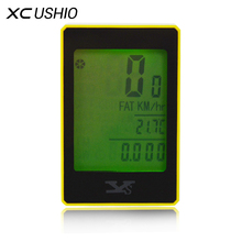 Bicycle Bike Computer Wireless Touch Button LCD Backlight Bicycle Speedometer 22 Functions Waterproof Cycling Cycle Computer