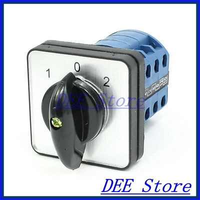 Electric 1-0-2 3 Position 12 Terminals Rotary Cam Changeover Switch 380V 20A<br><br>Aliexpress
