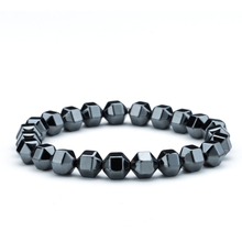 Strand Polygon Cutting Hematite Beads Bracelets Men's Bracelet Bangles on Hand of a Male bead Jewelry Accessories Man(China)