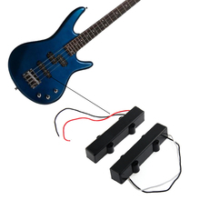 1 Pair 5 String Sealed Style Neck/Bridge Electric Bass Guitar Pickups For Jazz JB Bass Black Guitar Accessories