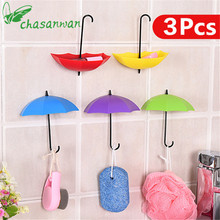 3 Pcs Umbrella Modeling Stickers Hook Decorative Hooks DIY Wedding & Home Party Backdrops Decoration Party Supplies Casamento,Q