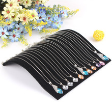 19*19.7cm Black Velvet Necklace Bracelet Curved Showcase Holder Jewelry Display Stand(China)