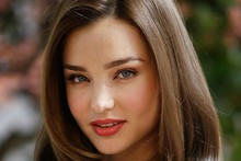 miranda kerr blue eyes face sexy model posters and print glossy silk fabric cloth print art Wall Decor(China)