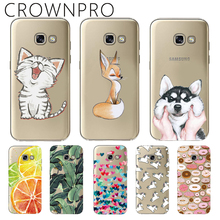 CROWNPRO Clear Soft TPU Cases FOR Samsung Galaxy A7 2017 Silicone Back Cover FOR Samsung A7 2017 A720 A720F Phone Cases
