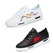 Fashion women Embroidery shoes woman moccasins cute Mesh White casual lolita shoes sapatilhas zapatillas mujer Tufli Tenis femme