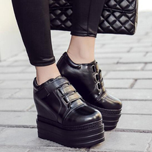 punk boots for women wedge boots high heels motorcycle spring boots women thick heel ankle high boots platform shoes D1013