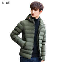2017 New Autumn Winter Parka Men Jacket Coat Outerwear Fashion Hood Padded Quilted Warm Male Jackets Hooded Casual Wadde P17004(China)