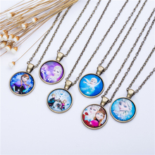 Cute Cartoon character Jewelry Classic Glass Cabochon Statement Necklace&Pendants Fashion Collares  Women Girl Children Gift