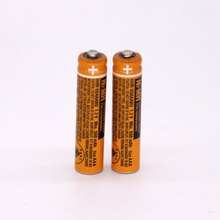 2PCS AAA battery for HHR-55AAABU For Panasonic Cordless Phone batteries 1.2V 550mAh Original New Rechargeable NI-MH