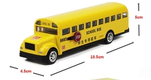 Alloy bus toys Long nose bread bus the American school bus school bus alloy model car toys for children(China)